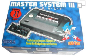 TecToy Master System III Compact Sonic the Hedgehog / 20em1 Box [Brazil]