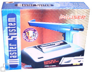 TecToy Master System III Compact Hang-On / Safari Hunt / Lightphaser / Bart vs. The World Lightphaser Box [Brazil]