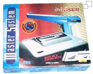 TecToy Master System III Compact Hang-On / Safari Hunt / Global Gladiators / Lightphaser Box [Brazil]