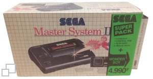 SEGA Master System II Alex Kidd in Miracle World/Wonder Boy Box [France]