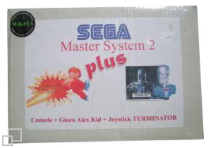 SEGA Master System II plus Alex Kidd in Miracle World/Terminator 2 Joystick Box [Italy]